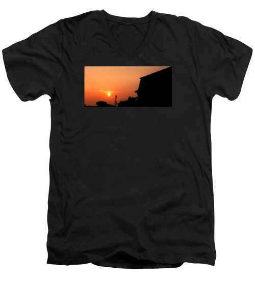 Block Island Sunset Men's V-Neck T-Shirt