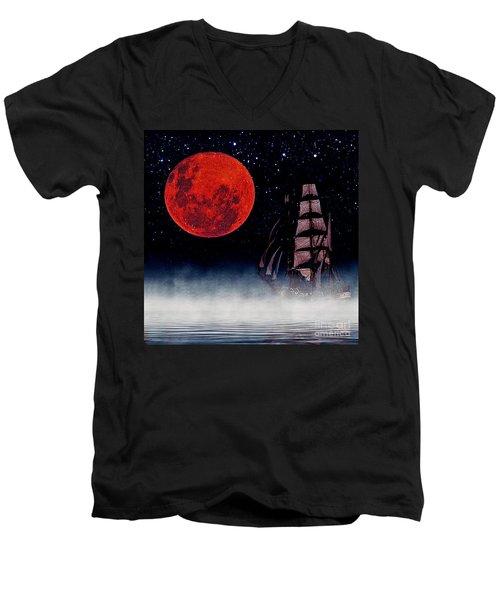 Blood Moon Men's V-Neck T-Shirt