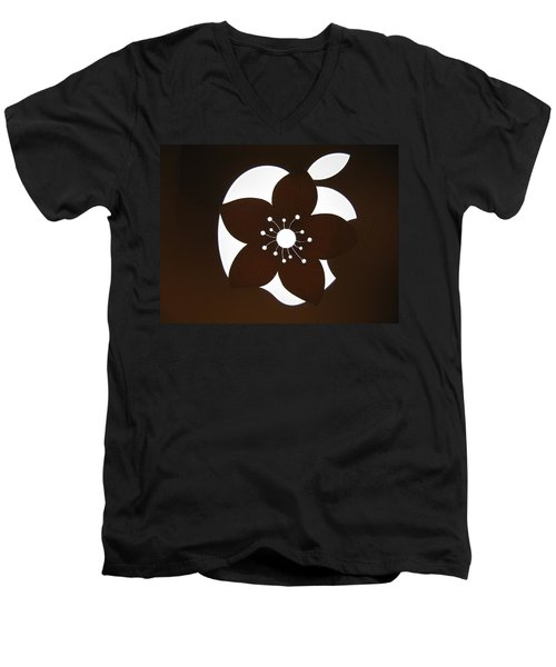 Blooming Apple Mac Men's V-Neck T-Shirt by Ausra Huntington nee Paulauskaite