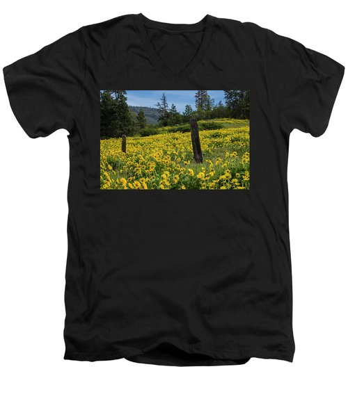 Blooming Fence Men's V-Neck T-Shirt