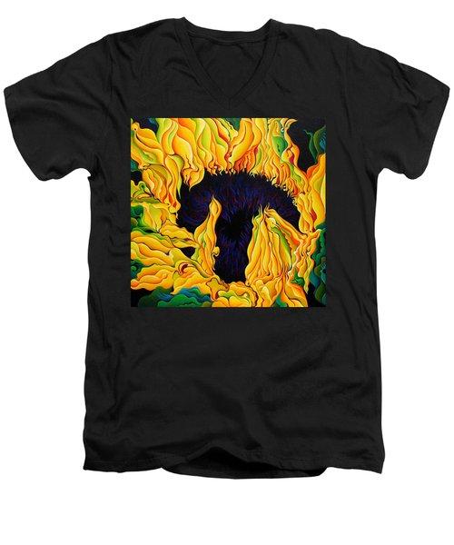 Blossomonious Yellow Trip Men's V-Neck T-Shirt