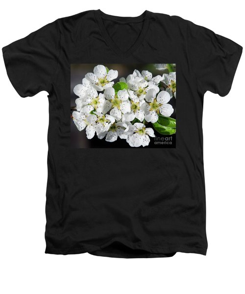 Men's V-Neck T-Shirt featuring the photograph Blossoms by Elvira Ladocki