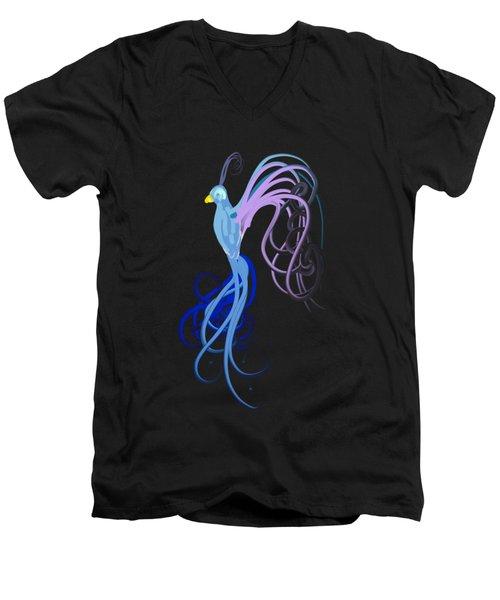 Blu Men's V-Neck T-Shirt
