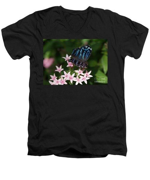Blue And Pink Make Lilac Men's V-Neck T-Shirt