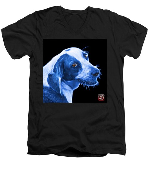 Blue Beagle Dog Art- 6896 - Bb Men's V-Neck T-Shirt
