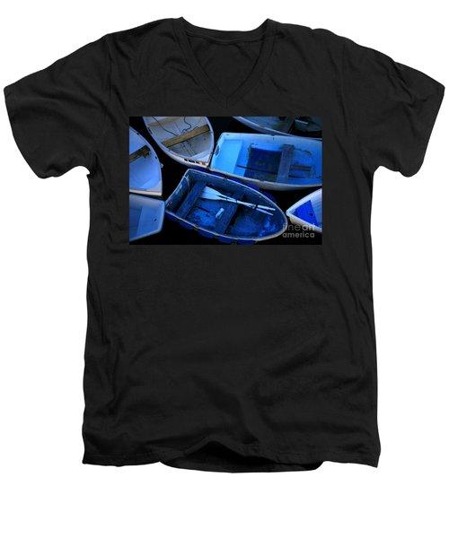 Blue Boats Men's V-Neck T-Shirt