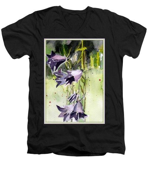 Blue Bonnets Men's V-Neck T-Shirt by Mindy Newman