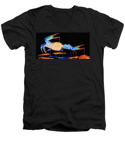 Blue Crab Two Men's V-Neck T-Shirt
