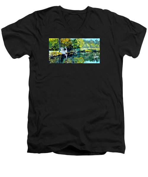 Blue Creek Fish Camp Men's V-Neck T-Shirt