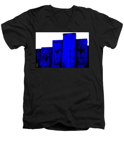 Blue Deco Men's V-Neck T-Shirt