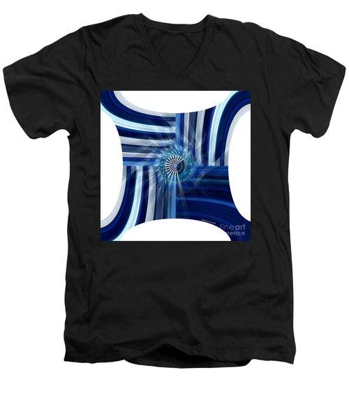Blue Dimension  Men's V-Neck T-Shirt by Thibault Toussaint