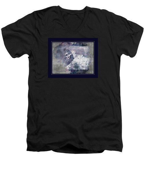 Blue Dreams And Butterflies Men's V-Neck T-Shirt