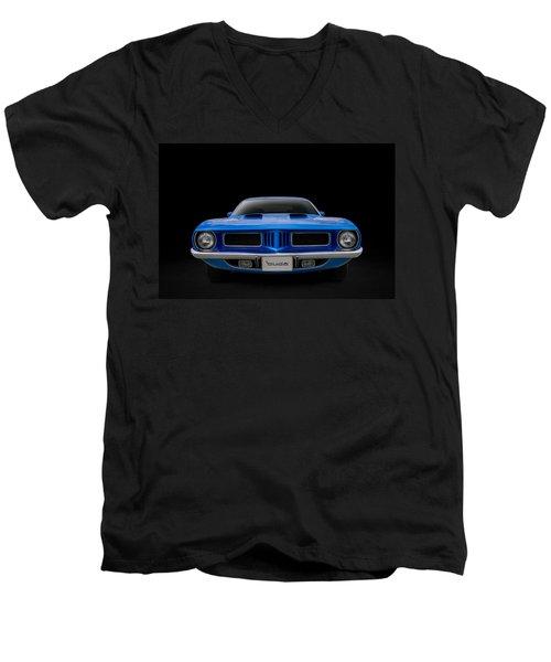 Blue Fish Men's V-Neck T-Shirt by Douglas Pittman