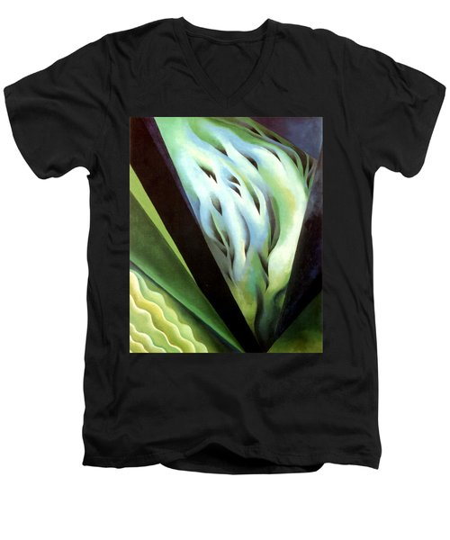 Blue Green Music Men's V-Neck T-Shirt