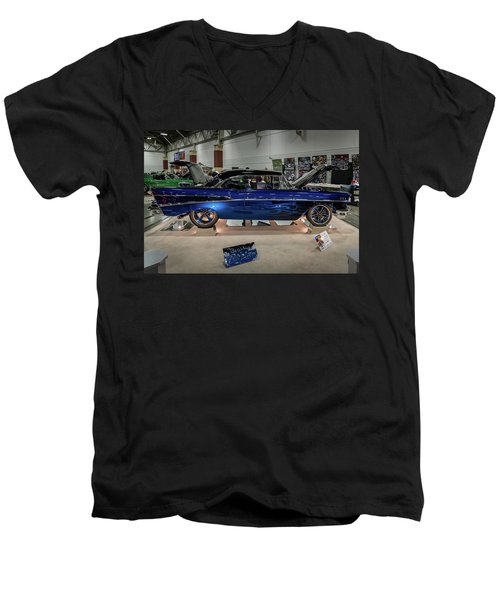 Men's V-Neck T-Shirt featuring the photograph Blue Heaven by Randy Scherkenbach