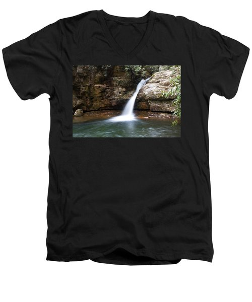 Men's V-Neck T-Shirt featuring the photograph Blue Hole In Spring #1 by Jeff Severson