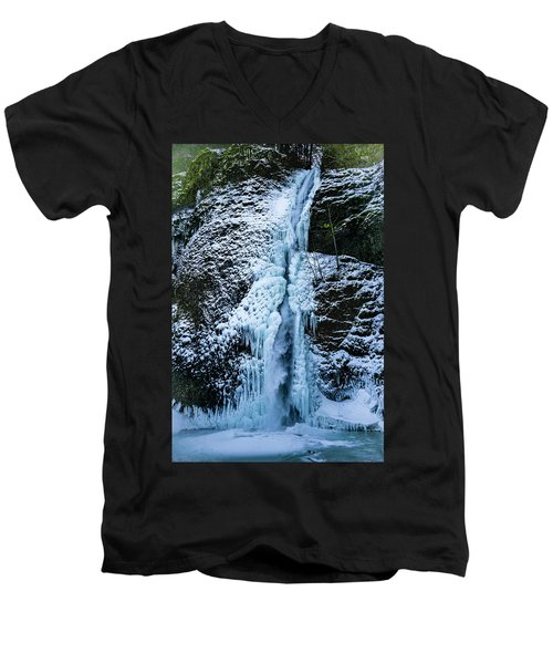 Blue Ice And Water Men's V-Neck T-Shirt