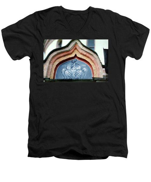 Blue Icon At Trinity Lavra Of St. Sergius In Sergiev Posad Men's V-Neck T-Shirt by Wernher Krutein
