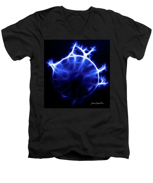 Blue Jelly Fish Men's V-Neck T-Shirt