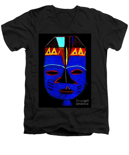 Blue Mask Men's V-Neck T-Shirt