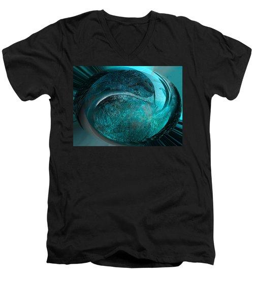 Blue Moon Men's V-Neck T-Shirt by Kevin Caudill