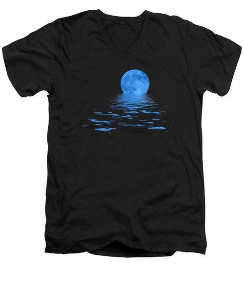 Blue Moon Men's V-Neck T-Shirt by Shane Bechler