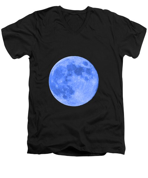 Blue Moon .png Men's V-Neck T-Shirt by Al Powell Photography USA