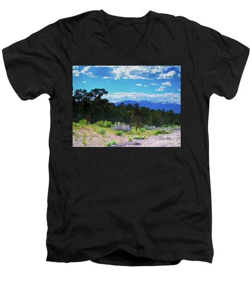 Blue Mountain West Men's V-Neck T-Shirt