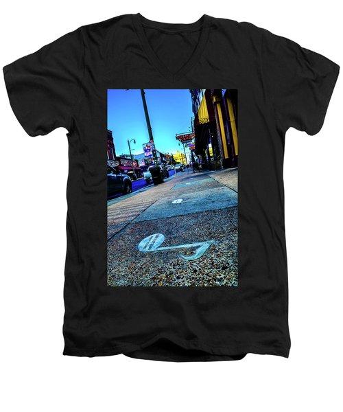 Blue Notes On Beale Men's V-Neck T-Shirt