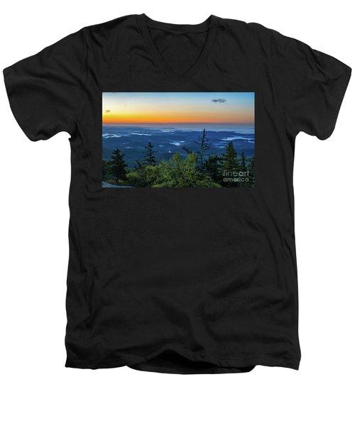 Blue Ridge Mountains Sunrise Men's V-Neck T-Shirt
