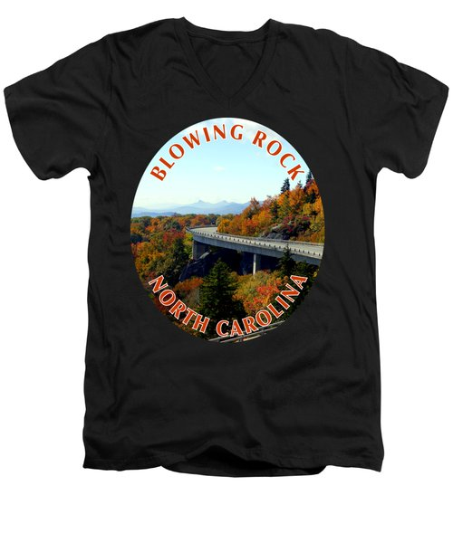 Blue Ridge Parkway T-shirt Men's V-Neck T-Shirt