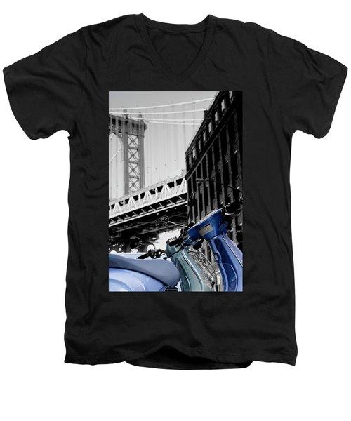 Blue Scooter Men's V-Neck T-Shirt