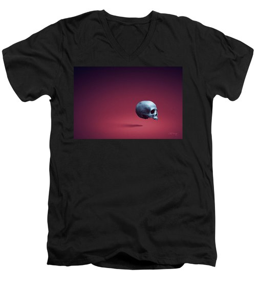Men's V-Neck T-Shirt featuring the photograph Blue Shell by Joseph Westrupp
