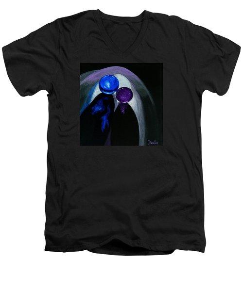 Blue Shooter Amethyst Aggie Men's V-Neck T-Shirt by Susan Duda