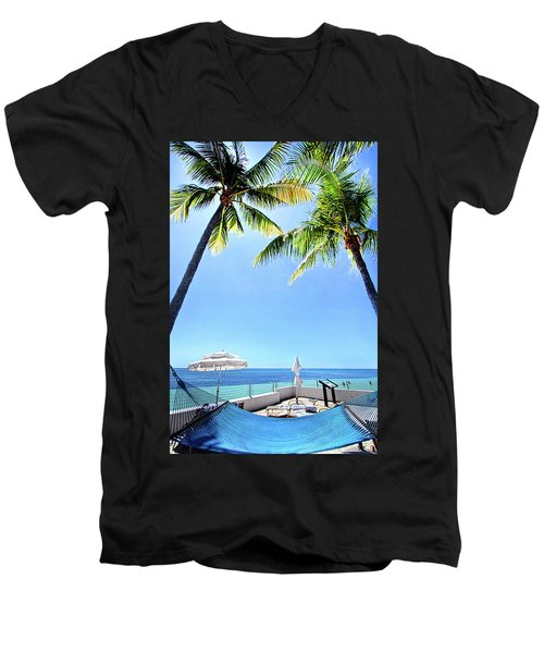 Men's V-Neck T-Shirt featuring the photograph Blue Sky Breezes by Phil Koch