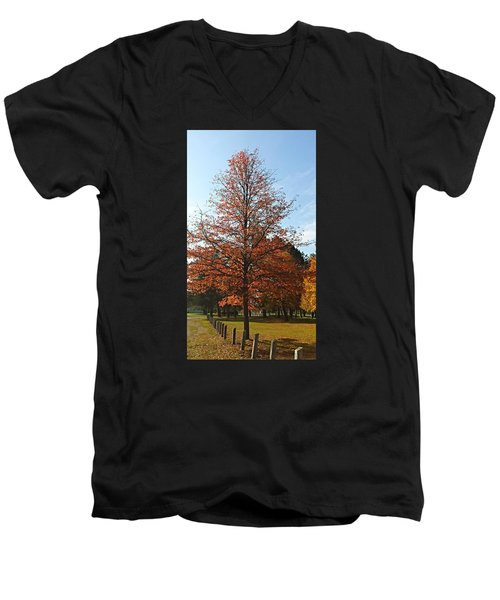 Blue Sky Men's V-Neck T-Shirt by Jana E Provenzano