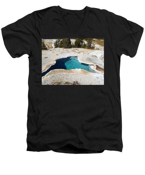Blue Star Spring Men's V-Neck T-Shirt