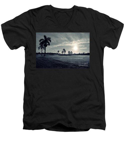 Blue Sunrise Men's V-Neck T-Shirt