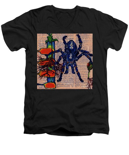 Blue Tarantula Men's V-Neck T-Shirt