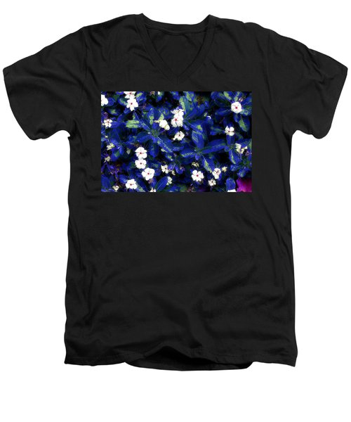 Blue White I Men's V-Neck T-Shirt