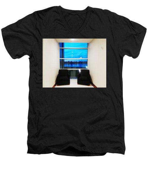 Blue Window Men's V-Neck T-Shirt