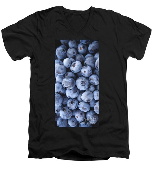 Blueberries Foodie Phone Case Men's V-Neck T-Shirt by Edward Fielding