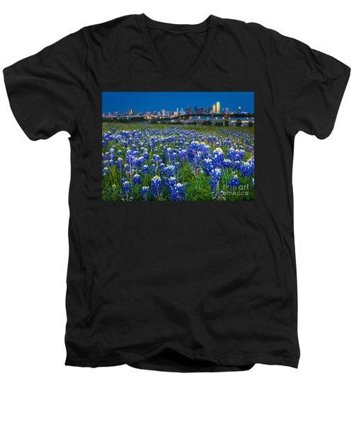 Bluebonnets In Dallas Men's V-Neck T-Shirt