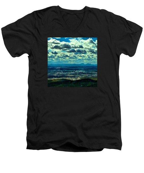 Blues In Nature  Men's V-Neck T-Shirt
