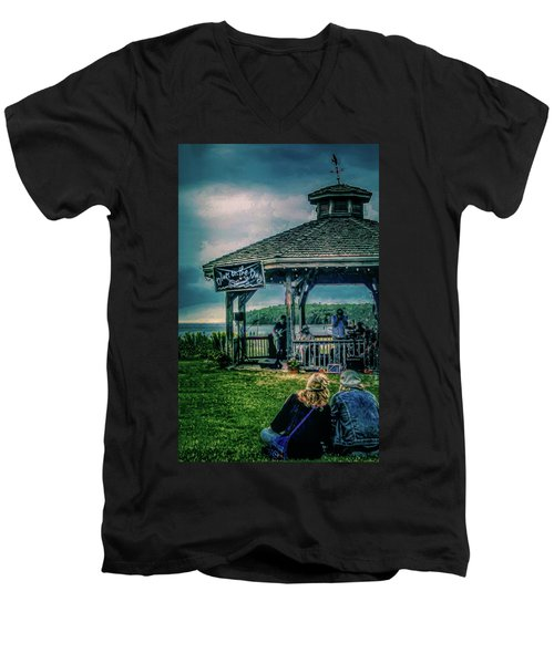 Blues On The Bay Men's V-Neck T-Shirt