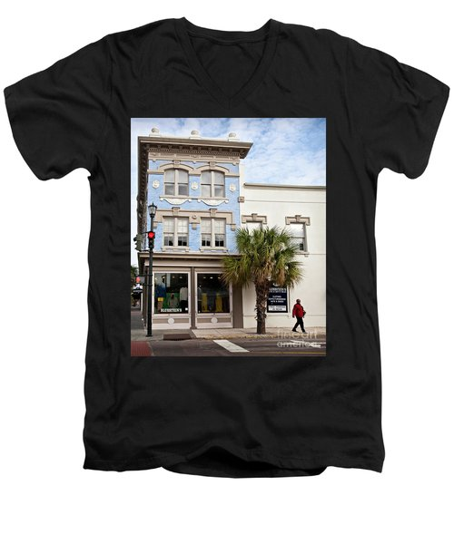 Bluesteins Menswear Charleston Sc  -7434 Men's V-Neck T-Shirt