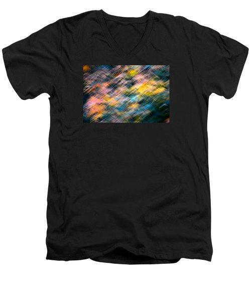 Blurred Leaf Abstract 1 Men's V-Neck T-Shirt