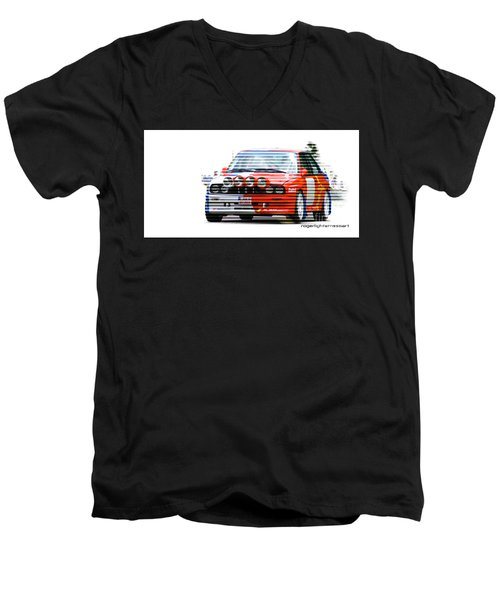 Bmw M3 Group A Men's V-Neck T-Shirt by Roger Lighterness