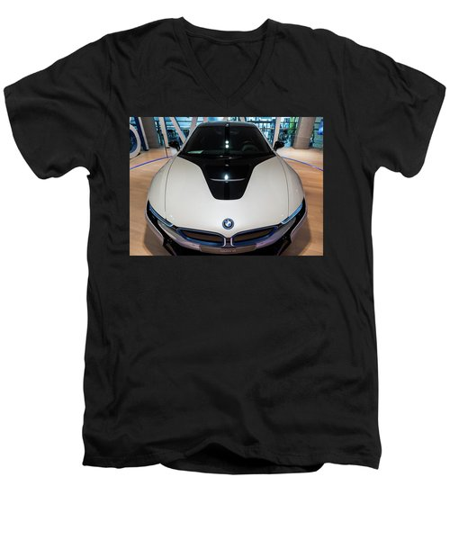 Men's V-Neck T-Shirt featuring the photograph BMW by Sergey Simanovsky