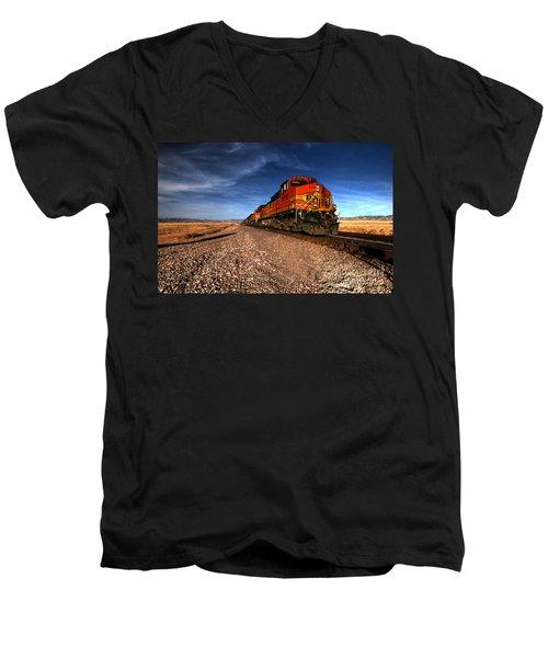 Bnsf Freight  Men's V-Neck T-Shirt